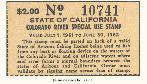 California special arizona license colorado river for Fishing license az