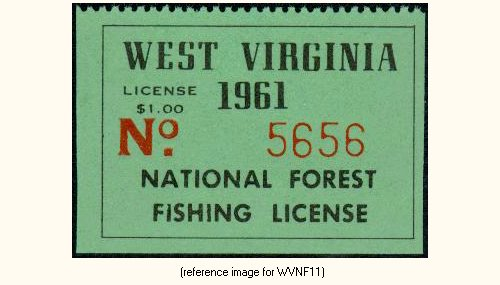 West virginia national forests fishing license 1951 for Wv fishing license online