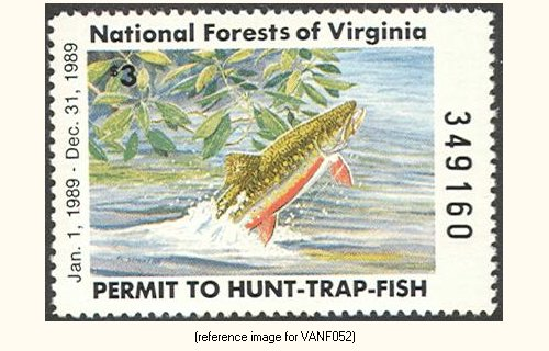 Virginia National Forests Hunting Fishing 1939 1987