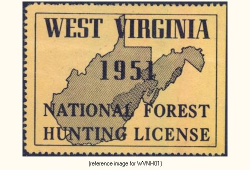 West virginia national forests hunting license 1951 for Wv fishing license online